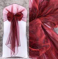 2019 Jacquard Stuhlabdeckungen Für Hochzeitszeremonie Stuhl Sashes Party Bankett Dekoration Satin Sash Hochzeitszubehör 50 Stück Lot
