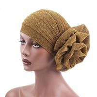 Yeni Moda Şapkalar Womens Fırfır Türban Şapkalar Büyük Poplin Çiçek Kokteyl Düğün Çay Partisi Şapka Ile Hint Türban Şapka