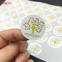 사용자 정의 스티커 개인화 된 100PCS 웨딩 스티커 라벨을 부탁 / 선물 태그 / 초대 봉투 봉인 스티커 30MM 박스