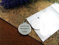 """40pcs - """"bis das letzte Blatt fällt"""" Edelstahl Reize mehr Stil für für Halskette DIY-Charme-Anhänger Auswahl"""
