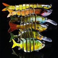 High Realistic Fish Designer Live Target Mullet swimbaits 6 misure set Mutil-Jointed Lure 6 Segmenti contraccolpo esche oceaniche