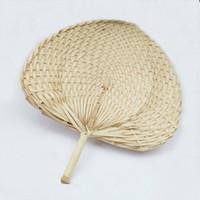 8pcs / lot chinesisches Handwerk handgemachte Weben Fan Palm Fans
