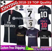 Camiseta de fútbol Champions League psg 2018 2019 hombres mujeres nueva  camiseta MBAPPE París 18 19 ce3fa8d3da1