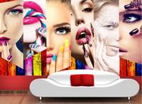 مخصص 3d صور خلفيات ماكياج للجدران 3 د غرف المعيشة التجميل صالون أريكة التلفزيون خلفية 3d خلفيات الجدران