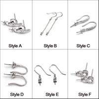 Impostazioni orecchini in argento sterling 925 Fascini adatti Fascino Orecchini 6 Stili Orecchini pendenti Gioielli da donna