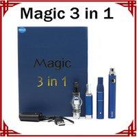 Magic 3 in 1 kit Dry Herb Vaporizer Globe Globe Evod Starter Kit E-Cigaretta Battery Battery Pen
