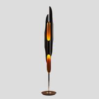 110V 220V 스탠드 바닥 조명 램프 램프 LED 파이프 로비 노르딕 유럽 황금 검은 우편 현대