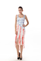 Wholesale summer dresses Classic American Flag Print Dress B...