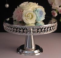 ウェディングスタンドケーキプレートの丸いトレイ装飾ガラス板のセットのウェディングデザートケーキのトレイホテルパーティー