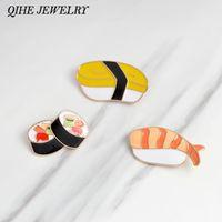 QIHE ювелирные изделия броши булавки суши японская эмаль pin отворотом pin для женщин куртка рюкзак сумка декоративные аксессуары