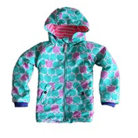 La veste britannique originale de mini enfants de BODEN, le coupe-vent imperméable de filles colorées de fleur, les enfants réchauffent le manteau gai de Noël