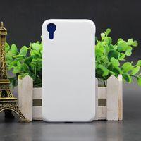 Blank cas de téléphone blanc pour la chaleur 3D 3D Sublimation cas de transfert d'impression pour iPhone XS XS Max XR Couverture arrière