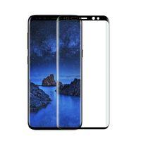 100 stücke Großhandel Premium Displayschutzfolie gehärtetem glas Für Samsung Galaxy S9 S9 Plus 3D Gebogene Rand Voller Bildschirm Schutzfolie