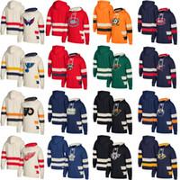 하키 후드 티 저지 워싱턴 수도 몬트리올 캐나다 밴쿠버 Canucks Columbus Blue Jackets 미네소타 야생 사용자 정의 유니폼