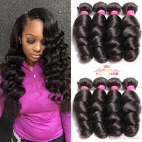 4 Bundles Of Virgin Brazilian Loose Wave Hair 100% Unprocess...