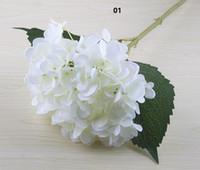 Искусственная гортензия цветок головки 47см поддельный шелковый одиночный гортензии для свадебных целевых компаний Главная партия декоративные цветы свадьба SF020