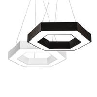 육각 펜던트가 AC 85-265 볼트 조명 룸 레스토랑 가정 생활을 위해 현대 끊기 램프 서스펜션 조명기구 램프 주도