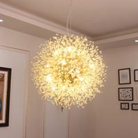 Moderna LED Pingente de Cristal Lâmpada Dente-de-leão Lâmpada Luminária para sala de jantar Bedroom Lustres de Cristal AC110V ~ 240V