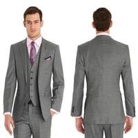 Yeni Custom Made Damat Smokin Yan Yarık Best Man Suit Düğün Sağdıç Erkekler Damat 3 Parça Tailcoat Suits Suits