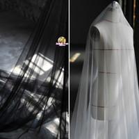 320 см ширина супер прозрачный марля высокой моды ткань сетки ткань свадебное платье вуаль тюль ткань SR08