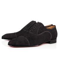 Yüksek Kaliteli Kırmızı Alt Greggo Orlato Loafers Flats Lace Up Dikenler Erkek Sneakers Flats Lüks Kadınlar Boş Parti / iş / Giydirme Boyut 35-46