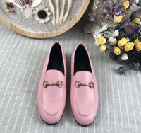 Chaussures en cuir à fond plat pour dames 2021, cuir véritable, gros fond, 5 couleurs, emballage complet noir blanc brun rose rouge. Taille 35-41