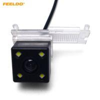 Caméra de sauvegarde arrière de la voiture FeelDo Vue arrière avec LED pour Peugeot 301/308 / 3008/508 / C5 / 3008 // 307 (hayon) / 307cc (13 ~ 15) # 3179