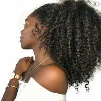 인간의 머리카락 포니 테일 hairpieces 클립에 높은 변태 곱슬 인간의 머리카락 140g drawstring 포니 테일 헤어 확장 블랙 여성을위한