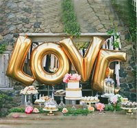 40 inch LOVE Gold Large Helium Balloons Decorations, Foil Bal...