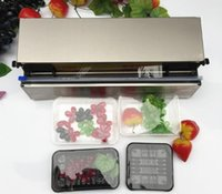 Roestvrij staal Cling Cling Film Sealing Machine, Voedsel Fruit Groente Verse Film Wrapper, Cling Cling Film Sealer Packaging Machine