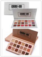 Stocking !! Sıcak Makyaj Marka Maange 18 Renkler Göz Farı Paleti Gül Altın / Gümüş Mat Glitter Matalik Göz Farı Toz Paleti DHL Nakliye