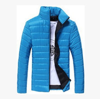 Men Fashion Thin Down Jackets Spring Autumn Coats Solid Colo...