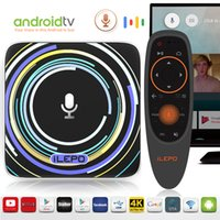 Google Voice Control Android TV Box 2018 Новые поступления S905W Smart TV Streaming Box Android TV 7.1 Система Оригинальный ilepo i18 IPTV Box