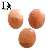 Natürliche Orange Selenit Palm Steine Crystal Sorgen Quarz Oval Seife Ball Massage Heilung Reiki Chakra Fraueneis Mineral Chatoyancy Satin Spar