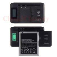 범용 지능형 LCD 표시기 배터리 충전기 삼성 갤럭시 S4 I9500 S3 I9300 참고 3 USB 출력 단자가있는 S5 US PLUG