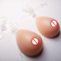 Hoge simulatie siliconen crossdress borst vorm grote buste borst pad nep kunstmatige borst met bh riem C Cup