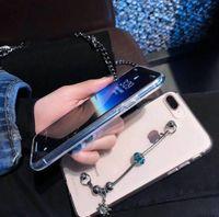 أنيق سوار باندورا سوار المعصم لينة شفافة حالة الهاتف غطاء معصمه أنيقة الهاتف المحمول شل لفون XS ماكس XR 6S 7 زائد