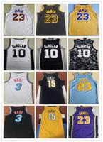 New Arrival. 2019 Mens transfer  23 James Los Angeles Basketball Jersey  James 23 3 Wade 10 Demar derozan 15 Nikola Jokic Stitched Basketball Jerseys 9761b41d1