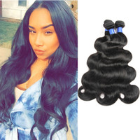 Brazilian Virgin Human Hair Body Wave Hair Extensions 10- 28 ...