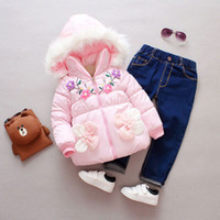 winter fall baby girls clothes outfits lamb coat Overalls fo...