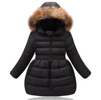 Filles hiver manteau enfants vêtements enfants faux collier de fourrure capuche hiver hiver vestes d'hiver pour filles chaudes d'hiver hiver manteau adolescents