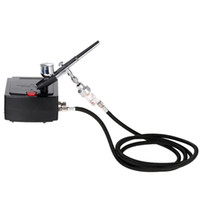 Freeshipping Dual Action Airbrush aerografo Pistola a spruzzo Air Compressor Kit per Art Painting Tattoo Manicure Craft Cake Air Brush Nail Set di strumenti