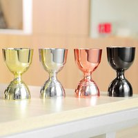 Premium Double End Jigger Copper -Plated, Premium Barware / Bar Tendering Beber Ferramentas