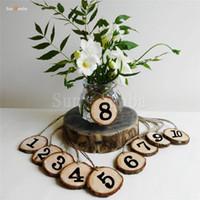 10pcs numeri di tavola di legno titolare della festa di nozze segni di direzione forniture rustiche centrotavola di eventi per la decorazione numero di nozze