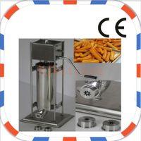 Envío gratis Manual de uso comercial Acero inoxidable 7L Spainish Churros Press Maker Machine con 5pcs Boquillas NP-17