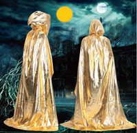 Sorcerer Death Cloak Disfraces de Halloween robe mens para mujer Cosplay Theatre Prop Death Hoody Cloak Devil Mantle Adult Hooded Cape