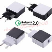 Быстрое зарядное устройство ЕС/США штекер путешествия стены адаптер быстрое зарядное устройство КК 2.0 адаптер для iPhone 5 6 7 Plus для samsung С6 С7 С8 вилка