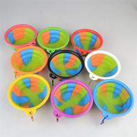 Camouflage Silikon Falten PET Fütterung Schüssel Hund Katze Reise Faltbare Wasser Gericht Feeder Silikon Faltbare 9 Farben T2I328