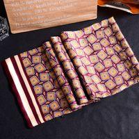 Nouveau Vintage 100% Soie Foulard Hommes Mode Paisley Fleurs Motif Imprimer Double Couche point Pure Soie Satin Foulards 40color # 4054