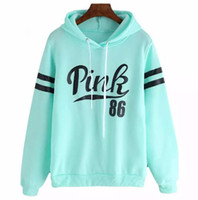 2018 Autumn And Winter Pullover Stylish PINK Printing Long- S...
